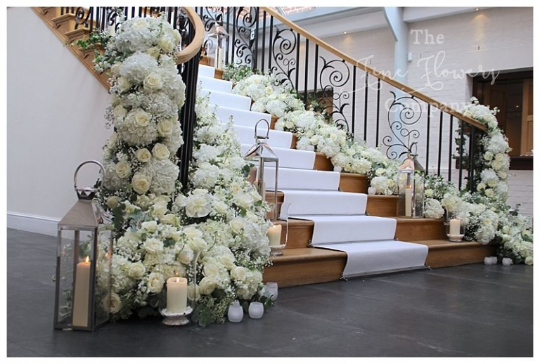 Pure white wedding flowers The Fine Flower Company