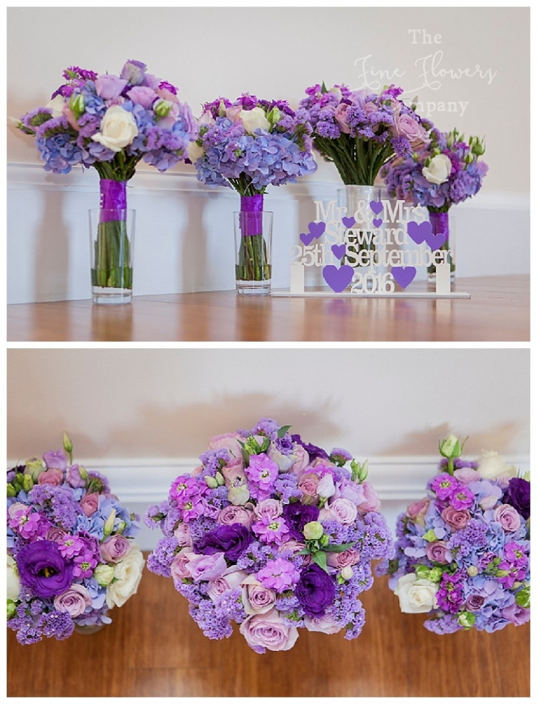 bold purple lilac wedding flowers at botleys mansion the fine