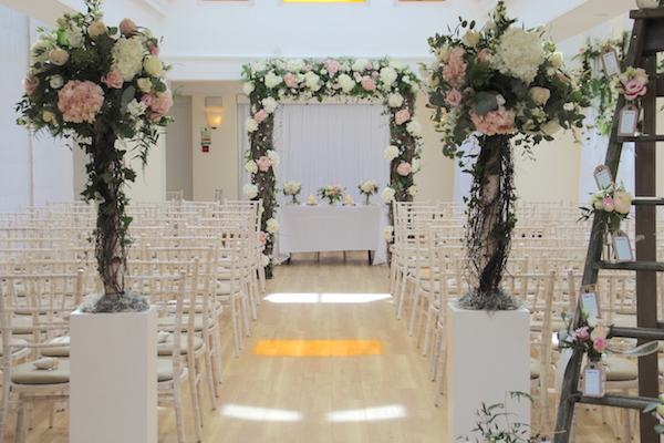Rustic Wedding Arch At Pembroke Lodge