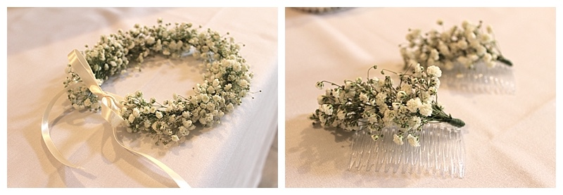 gypsophila hair flowers - circlet and hair combs