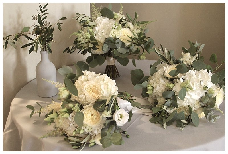 scented wild boho bridal and bridesmaids bouquets surrey. From wedding at Farnham castle.