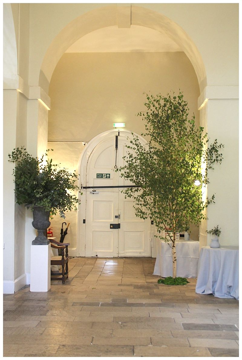 hall styling at farnham castle wedding reception. Farnham castle wedding.