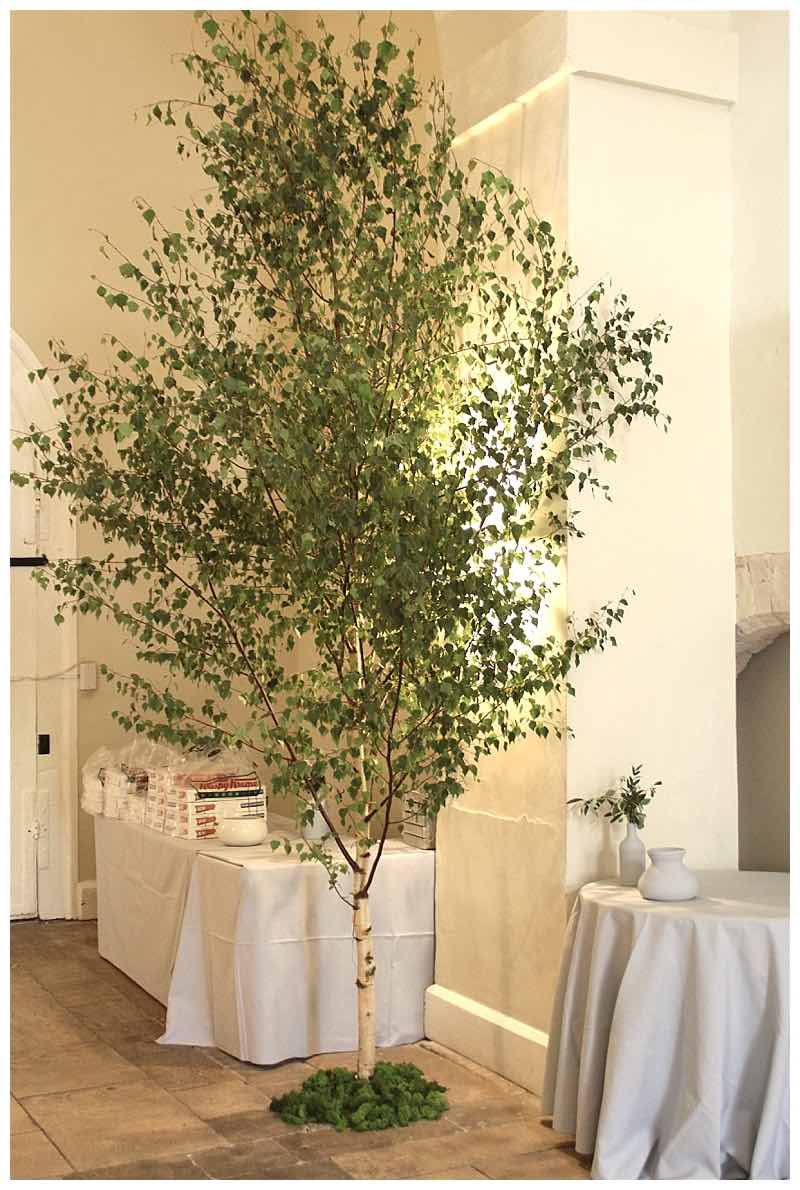 farnham castle hall flowers decorations ideas. silver birch wedding