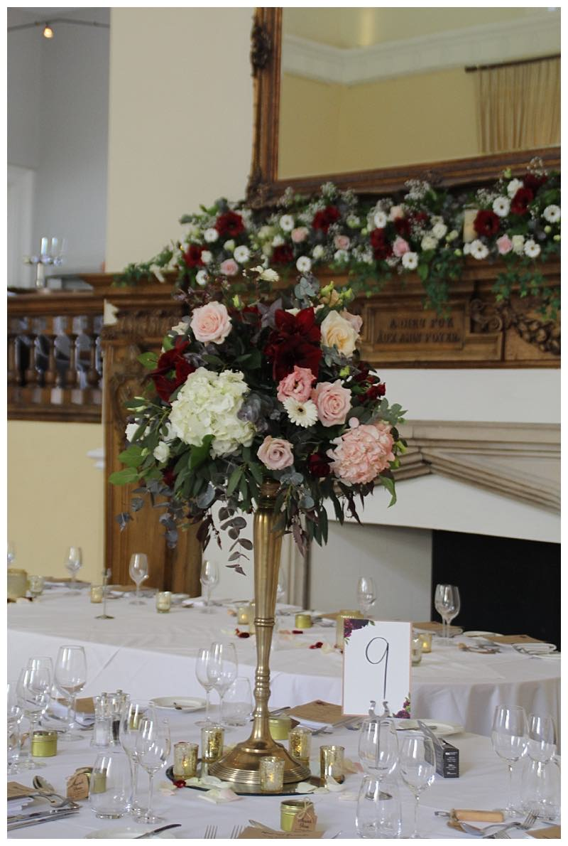 wedding flowers at farnham castle.