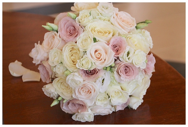 ivory and vintage pink bridal bouquet.