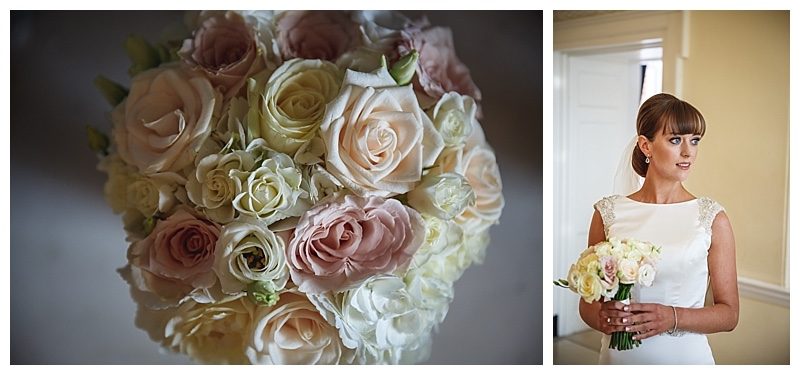 ivory and nude vintage blush pink , vintage bridal bouquet.