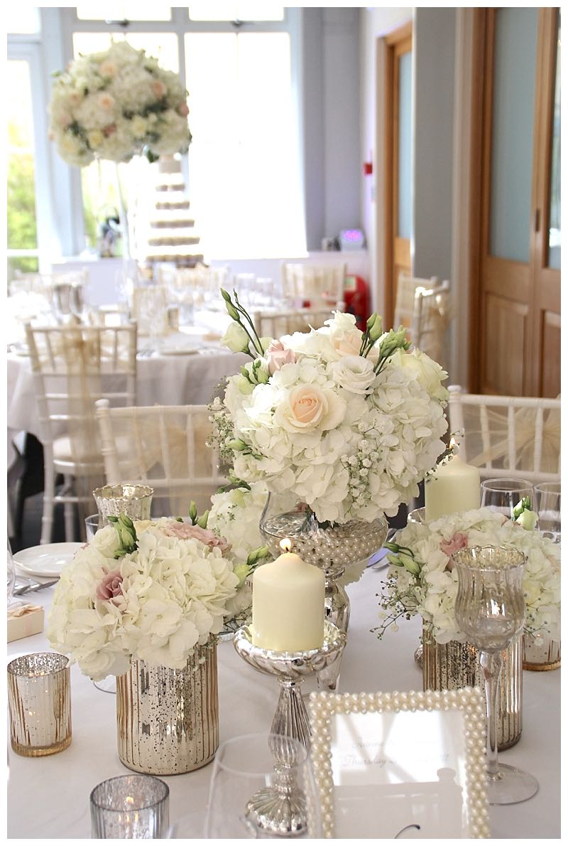 botleys mansion wedding flowers table centrepiece