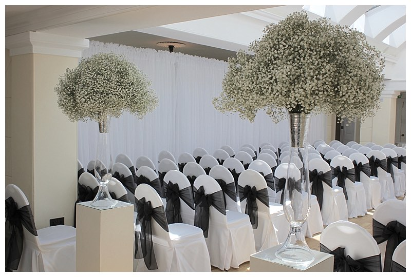 gypsophila wedding flowers, surrey wedding flowers,