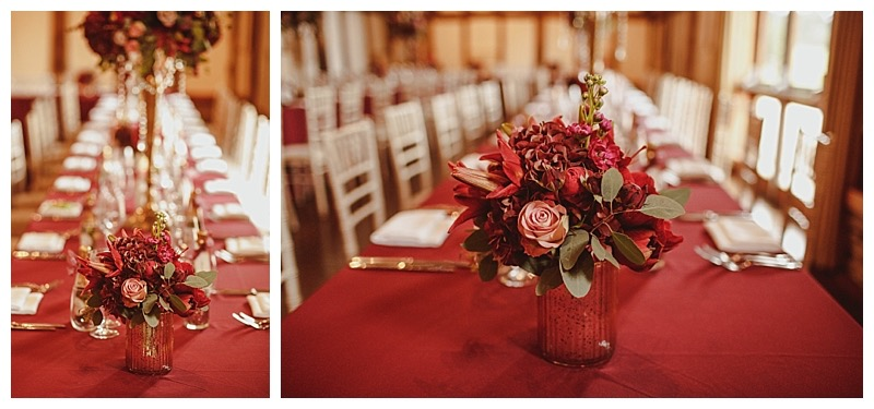 burgundy and vintage pink wedding flowers in surrey, at lovely park wedding