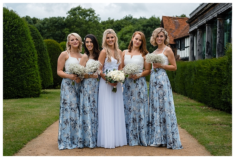 gypsophila bridesmaids bouquets from wedding at Great Fosters